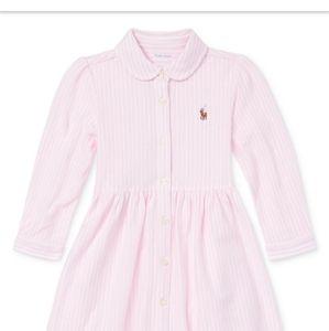 Polo infant Girls Stripped Long Sleeve Dress
